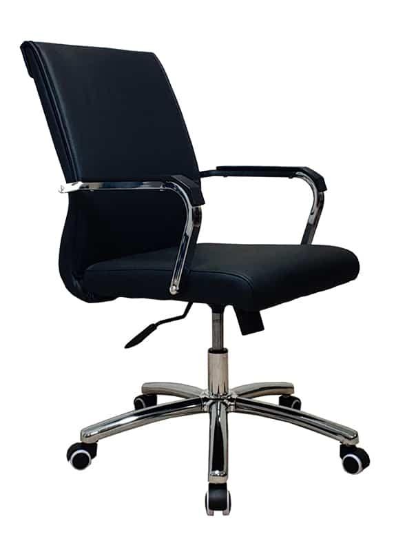 כסא ישיבות ברונו דמוי עור שחור