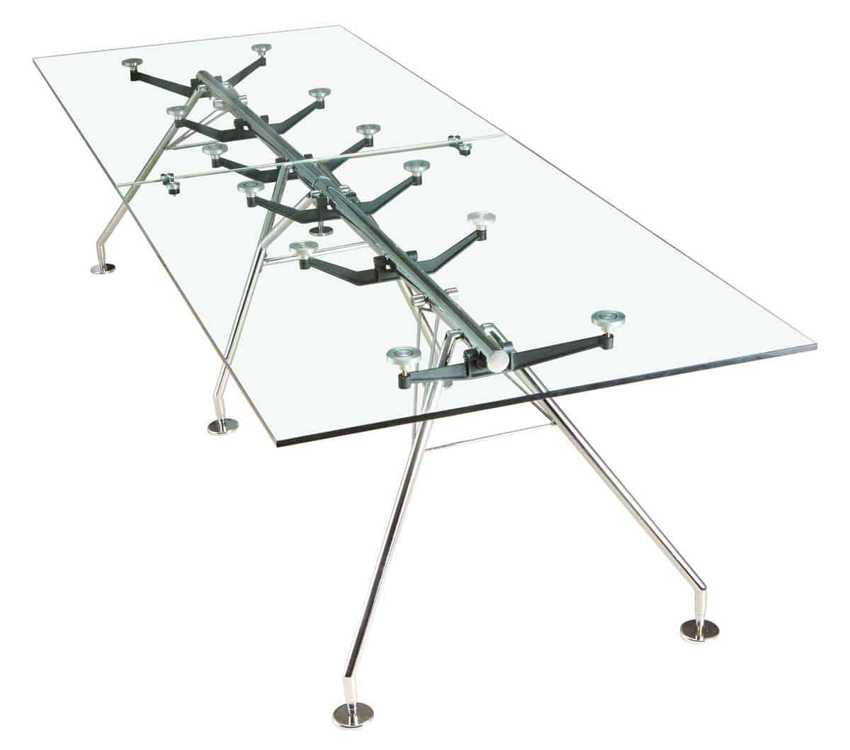 שולחן חדר ישיבות מדגם זכוכית