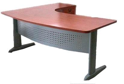 שולחן עבודה מדגם טרפז רגל מתכת