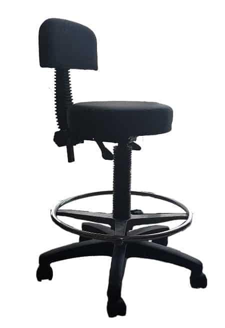 כסא שרפרף עם גב וחישוק