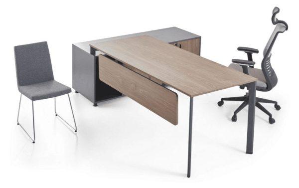שולחן מנהלים רגל מתכת ושלוחה