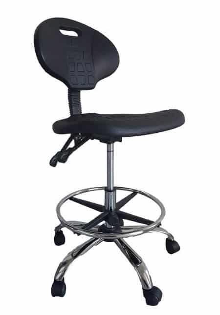 כסא מעבדה עם חישוק