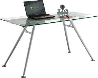 שולחן זכוכית מדגם סימפל ווייט