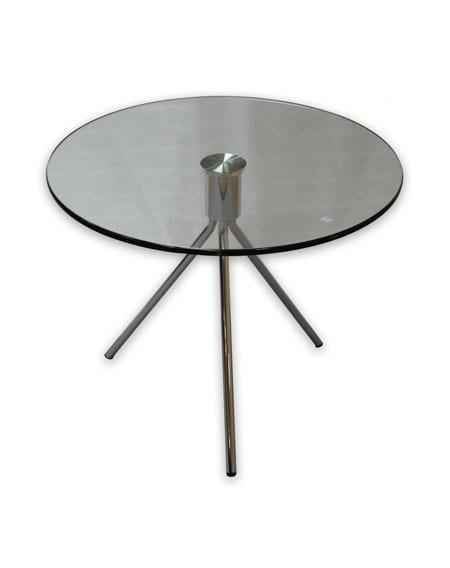 שולחן המתנה עגול מזכוכית דגם טריו