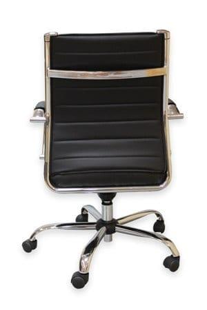 כסא ישיבות עם מנגנון סינכרוני כסא חדר ישיבות עם ריפוד דמוי עור