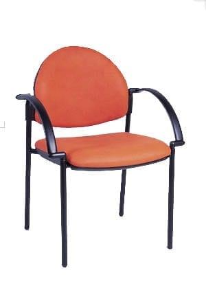 כסא אורח מדגם טקסיה מרופד עם ידיות