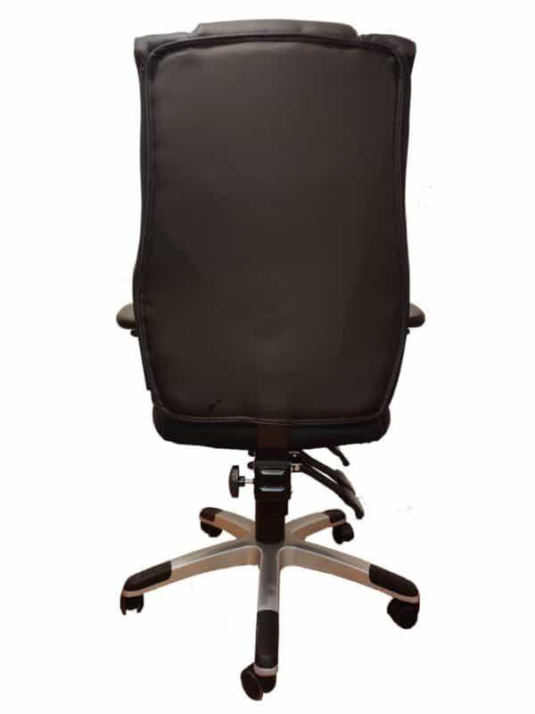 כסא מנהלים דגם גוצ´י ניקל דמוי עור