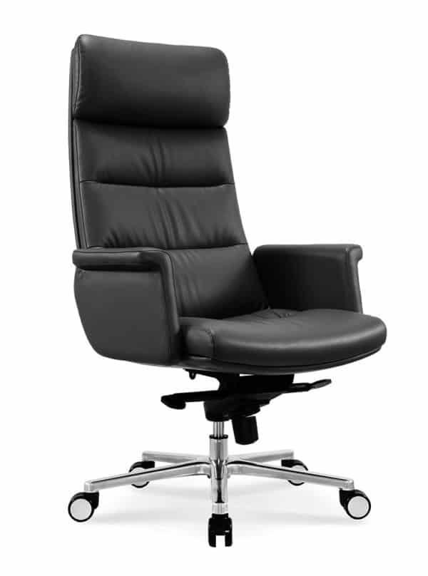 כסא מנהלים מעור אמיתי דגם MARS צד