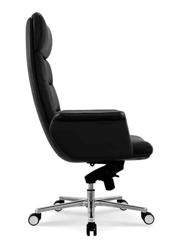 כסא מנהלים מעור אמיתי דגם MARS פרופיל