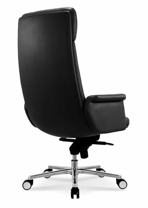 כסא מנהלים מעור אמיתי דגם MARS צד גב