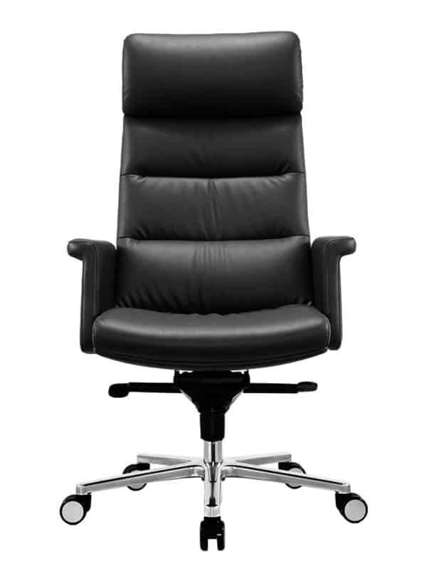 כסא מנהלים מעור אמיתי דגם MARS חזית
