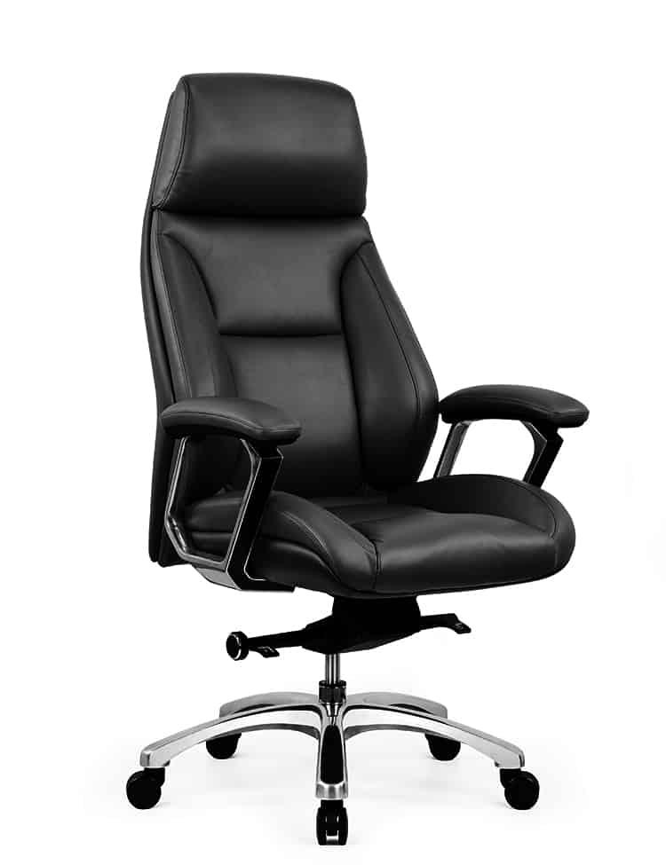 כסא מנהלים מעור אמיתי דגם JUPITER צד