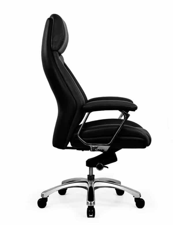 כסא מנהלים מעור אמיתי דגם JUPITER פרופיל