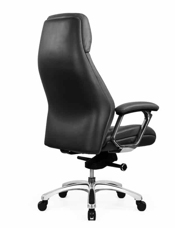 כסא מנהלים מעור אמיתי דגם JUPITER צד גב