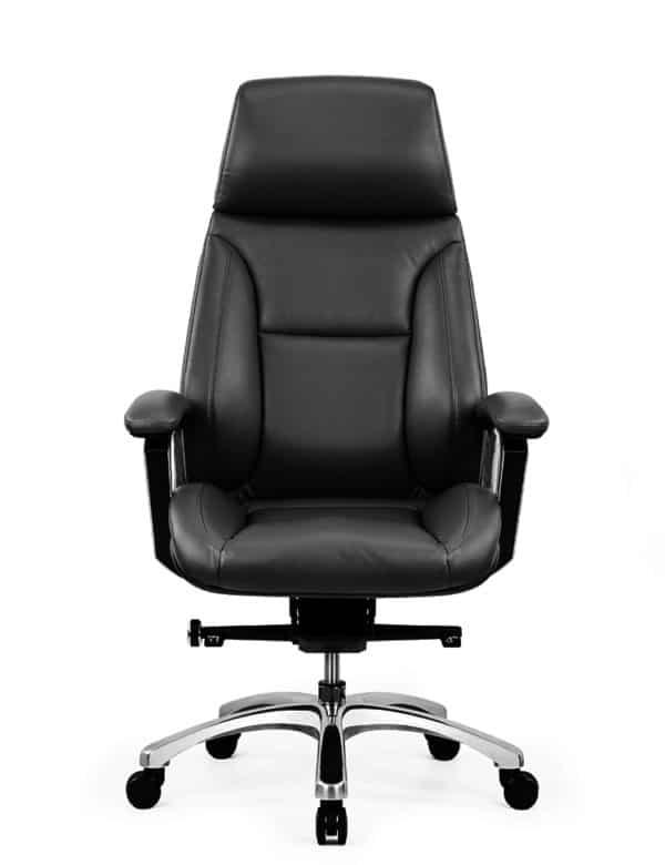 כסא מנהלים מעור אמיתי דגם JUPITER קדמי