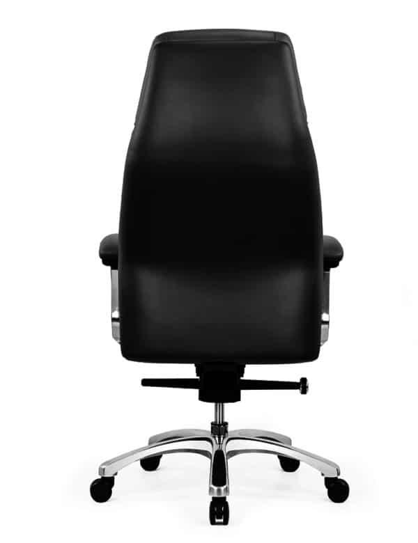 כסא מנהלים מעור אמיתי דגם JUPITER גב